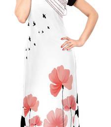 Buy White printed stitched kurti long-kurti online