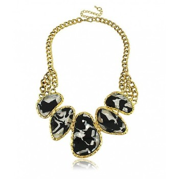 Black Leopard Print Collar Necklace