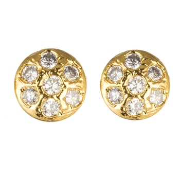 White gold plated stud earring