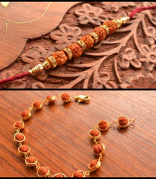 Buy two Multicolour Beaded Rakhi bhaiya-bhabhi-rakhi online