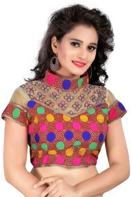 Multicolor cotton plain stitched readymade-blouse