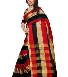 Buy red woven banarasi silk saree With Blouse banarasi-silk-saree online
