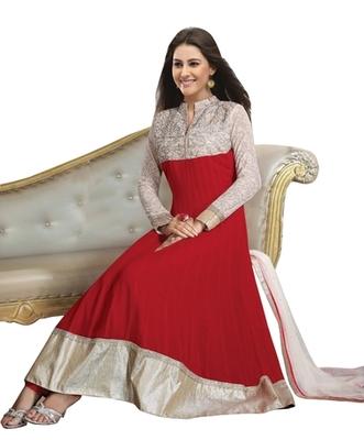 Triveni Splendid Party Wear Embroidered Red Color Indian Ethnic Salwar Kameez TSXAVSK104