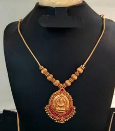 Buy Georgeous gold plated laxmi necklace set necklace-set online