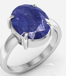 Buy Neelam 4.8 cts or 5.25 ratti Blue Sapphire Ring gemstone-ring online