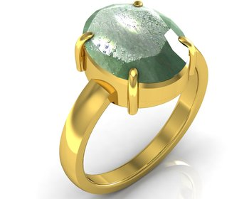 Panna 4.8 cts or 5.25 ratti Green Emerald Ring