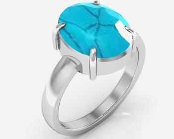 Turquoise 7.5 cts or 8.25 ratti Turquoise Ring