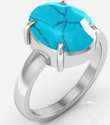Buy Turquoise 7.5 cts or 8.25 ratti Turquoise Ring Ring online