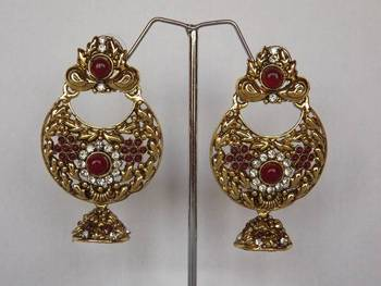 Ethnic Earrings in Antique Gold