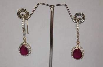 Delicate Danglers in Diamonds & Ruby