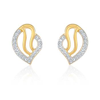 Eternal Gold Plated Curve Earrings with CZ Stones
