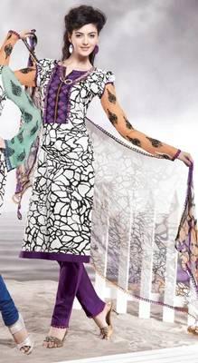 Cotton Embellished Salwar kameez Dress Material SC8143B