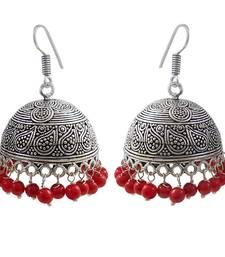 Buy Oxidized silver plated jhumki earrings for women jhumka online