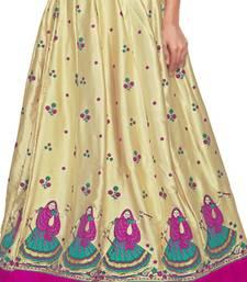 Buy Golden satin block pink border skirt maxi-skirt online