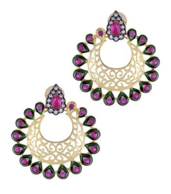 Purple Garland Earrings