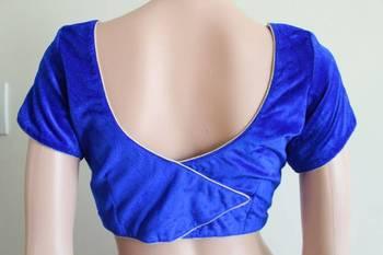 Royal Blue Velvet Blouse