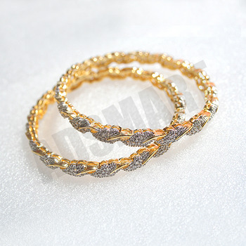 Designer AD Bangles With Excellent Polish & Finish