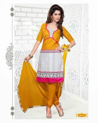 Chanderi / Cotton Silk Cotton Dress Material - DailyWear 004