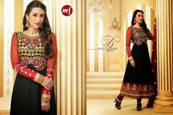Karishma Semi Stitched Anarkali with Embroidery for party Lovers