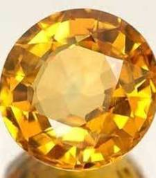 Buy 7.25 carat certified yellow sapphire pukhraj gemstone loose-gemstone online