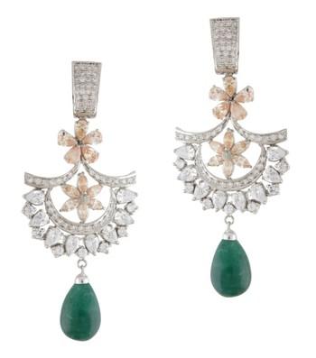 Peach & Green Blossom Earrings
