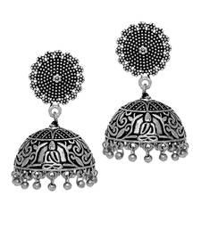 Buy Antique Oxidized Silver Plating Budha Shape Jhumki Women Earrings jhumka online