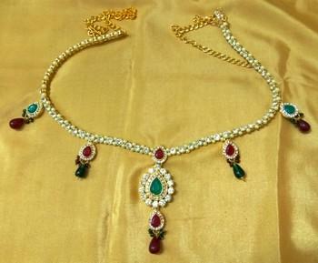 Beautiful Austrian Diamonds Multicolor Waist Belt Kamarband Belly Chain