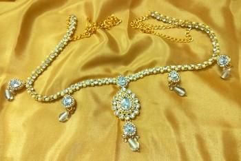 Beautiful Austrian Diamonds White Waist Belt Kamarband Belly Chain