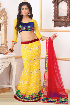 This a Net and Velvet Lehenga Choli Beautified By Dimond and Embroidery work
