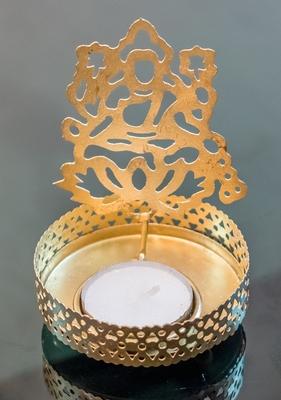 DIVINE Holy Goddess lakshmi T light festive gift shadow diya WITH WAX DIYA