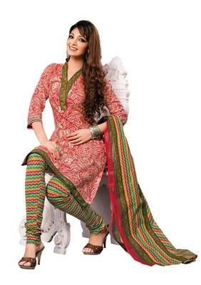 Hypnotex Cotton MAroon Dress Materials  Disha 1023