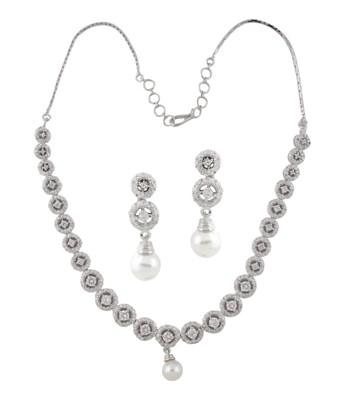 Round Dazzling Glory Necklace Set