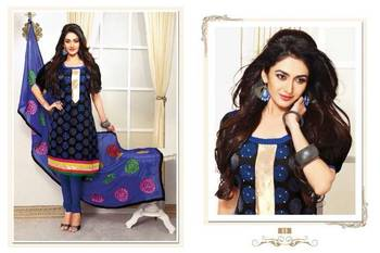 Designer Blue Chanderi jacquard Salwar