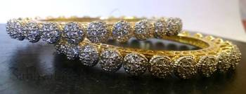 Diamond Pachheli Bangles