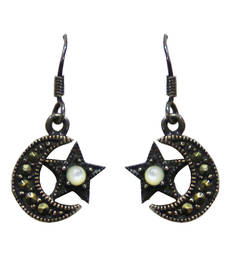 Silver Cubic Zirconia danglers-drops shop online