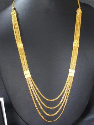 Golden four line Necklace