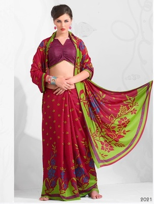 Zoom Fabric Crape Saree 7060