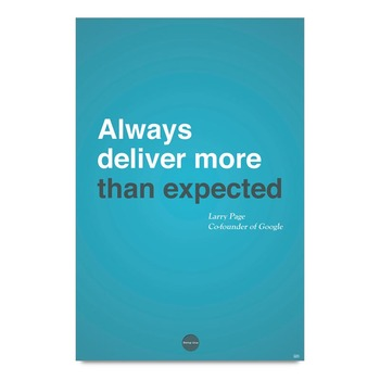 Expectation Motivational Quote By Larry Page Poster