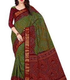 Buy Red hand woven Bandhani saree With Blouse bandhani-sarees-bandhej online
