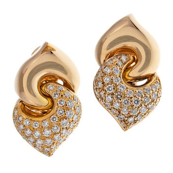 Cara sterling silver Golden Studded and Simple Swarovski stone earrings for Women