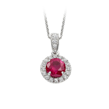 Cara sterling silver and  certified Swarovski stone Pink and stud outer pendant