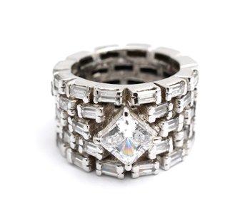 Cara sterling silver and  certified Swarovski stone Bold me Swarovski Ring