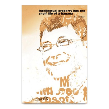 Business Mantra By Bill Gates Poster