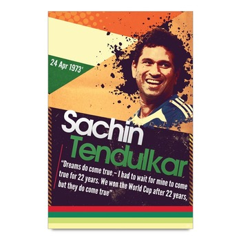 Dreams Do Come True Quote By Sachin Tedulkar Poster