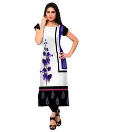 Buy multicolor printed crepe long-kurtis kurtis-below-500 online