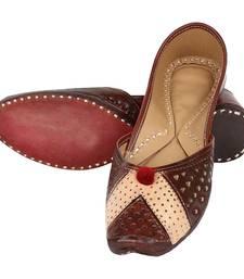 Buy Brown leather footwear eid-footwear online