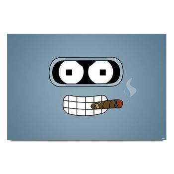 Bender Futurama Blue Poster