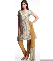 Buy Heart Taken Embroidered Chanderi Silk Suit salwars-and-churidar online