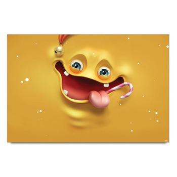 Yellow Sponge Smiley Poster
