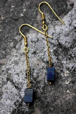 Lapis Blocks Earrings